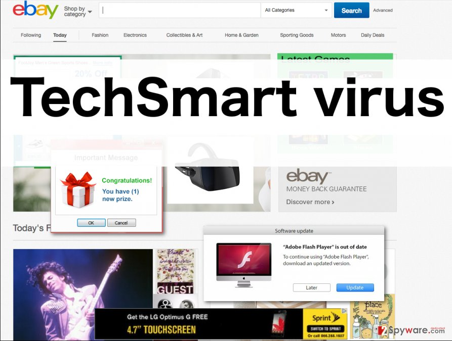 An illustration of TechSmart ads