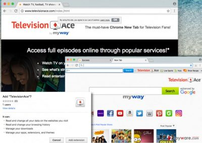 Screenshot of Television Ace Toolbar