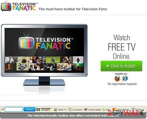 Television Fanatic toolbar