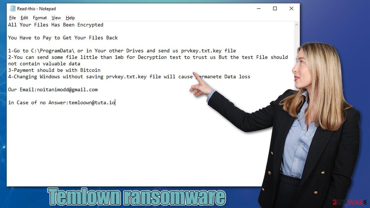 Temlown ransomware virus