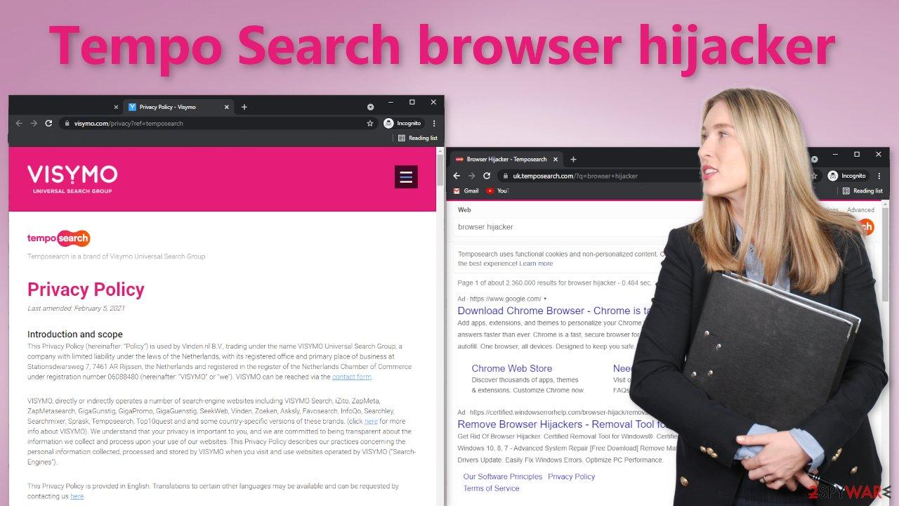 Tempo Search browser hijacker