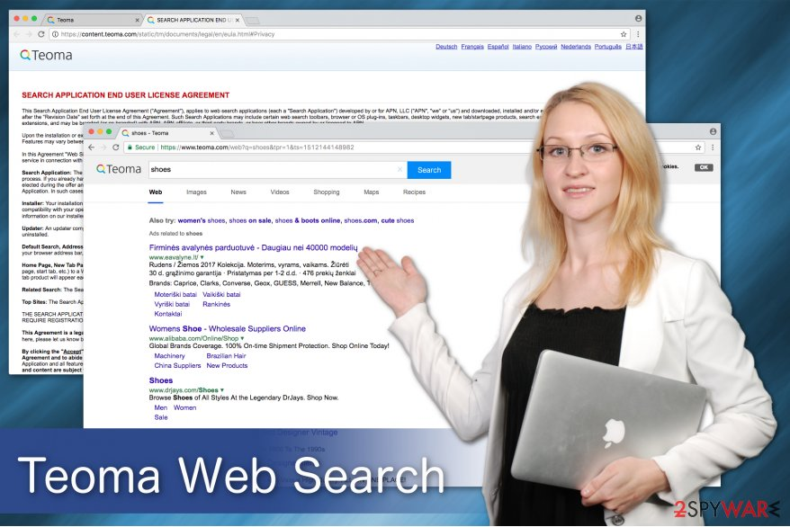 Teoma Web Search virus image