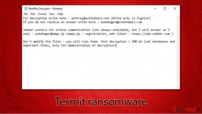 Termit ransomware