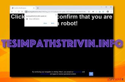 Tesimpathstrivin.info adware