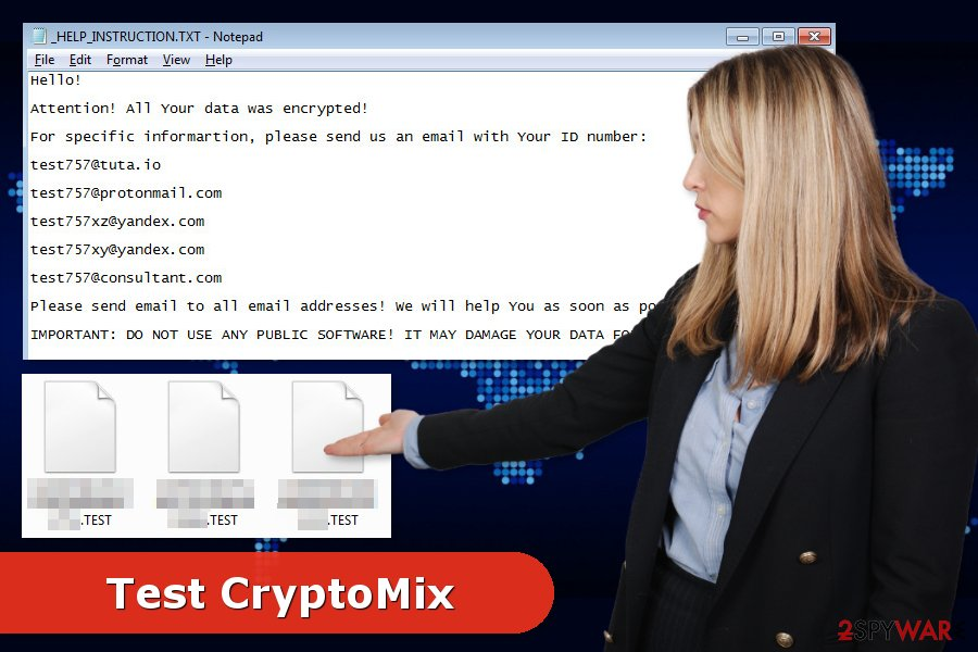 Test CryptoMix ransomware attack