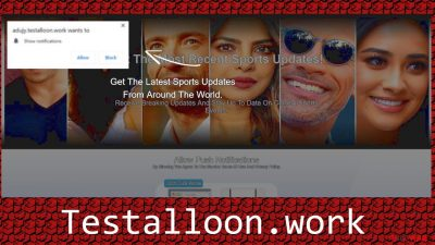 Testalloon.work push notification virus