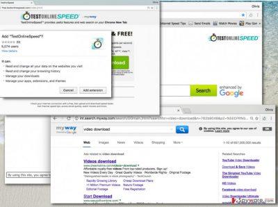 Adding TestOnlineSpeed Toolbar changes homepage address