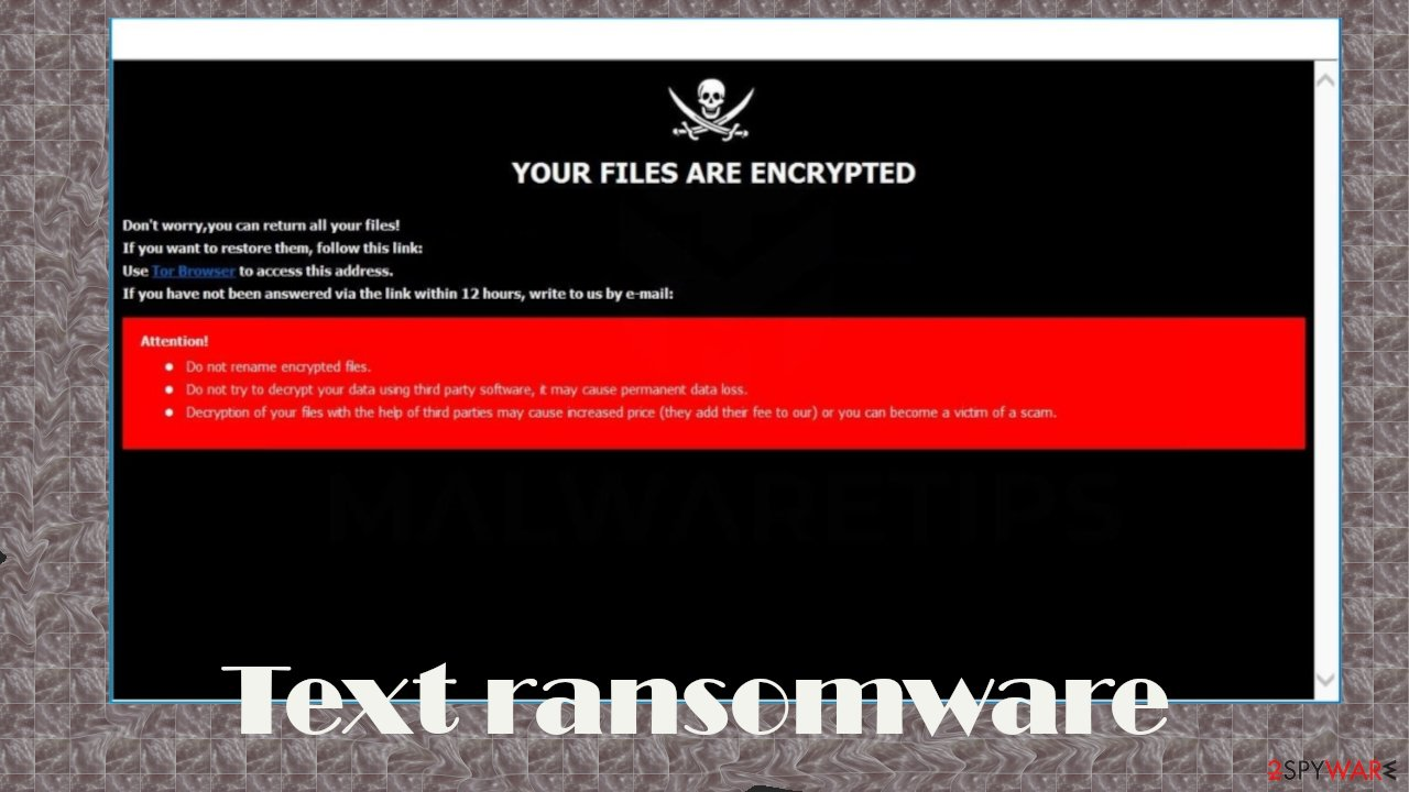 Text ransomware