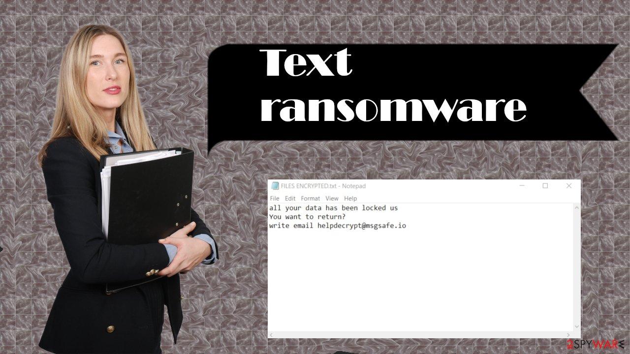 Text ransomware virus