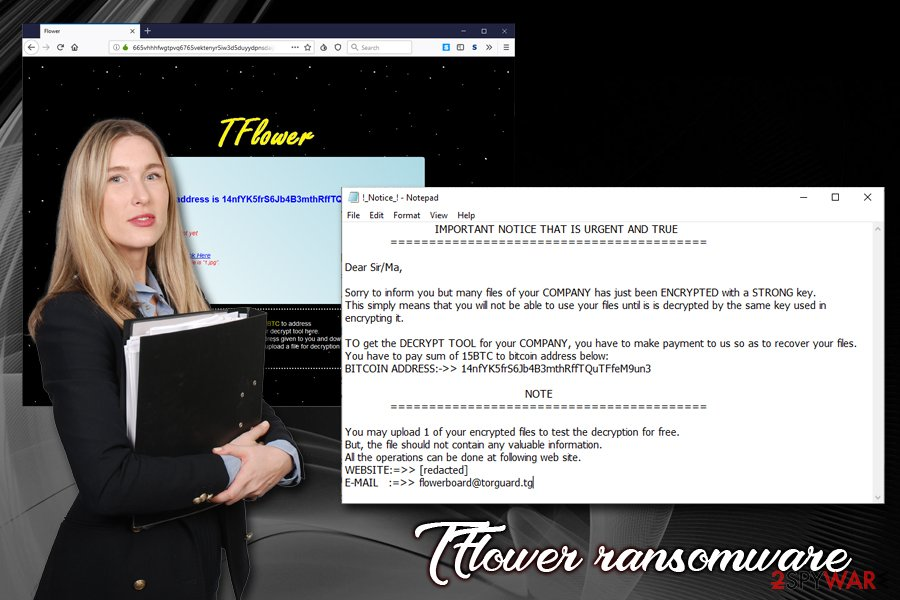 TFlower ransomware virus
