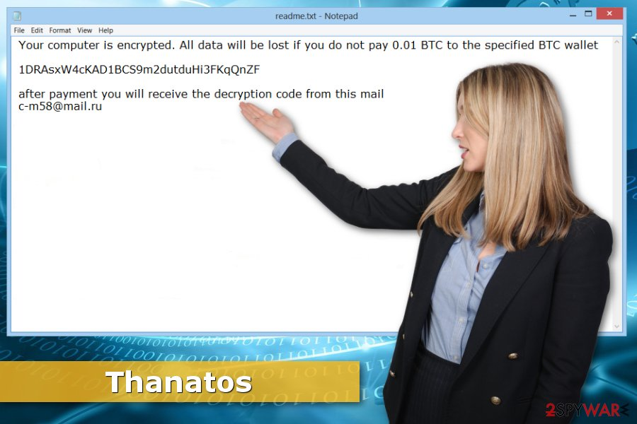 Image of Thanatos ransomware