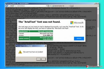 """""""The ArialText font was not found"""" ads"""
