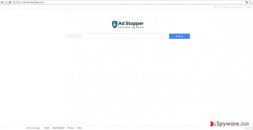 The example of search.adstopper.com virus
