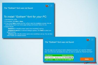 The Gotham Font Was Not Found virus