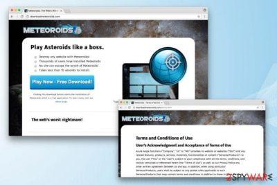 Meteoroids virus on its official website