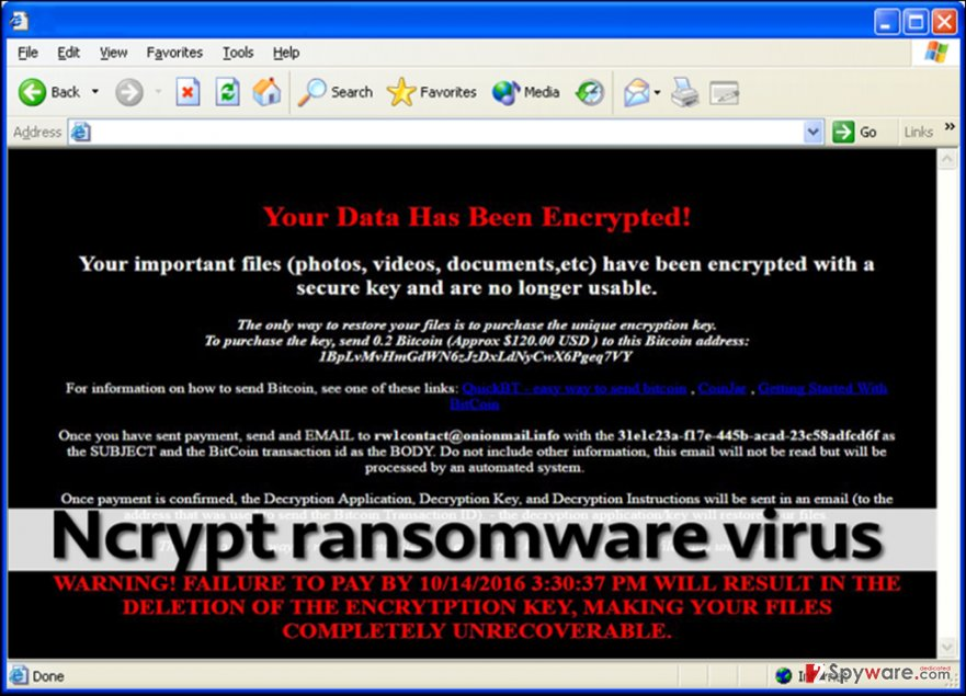 Ncrypt ransomware leaves _FILE_RETRIEVAL_INFORMATION.html file