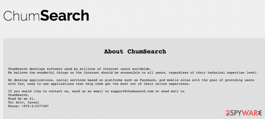Chumsearch is presented as a useful app
