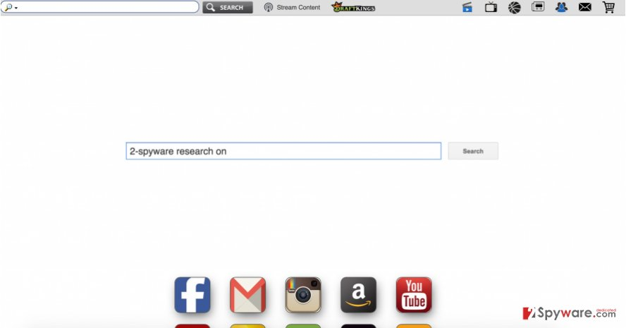 The picture showing Search.coolersearch.com hijacker