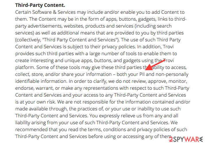 the Privacy Policy of Trovigo