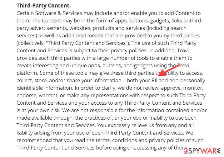 the Privacy Policy of Trovigo