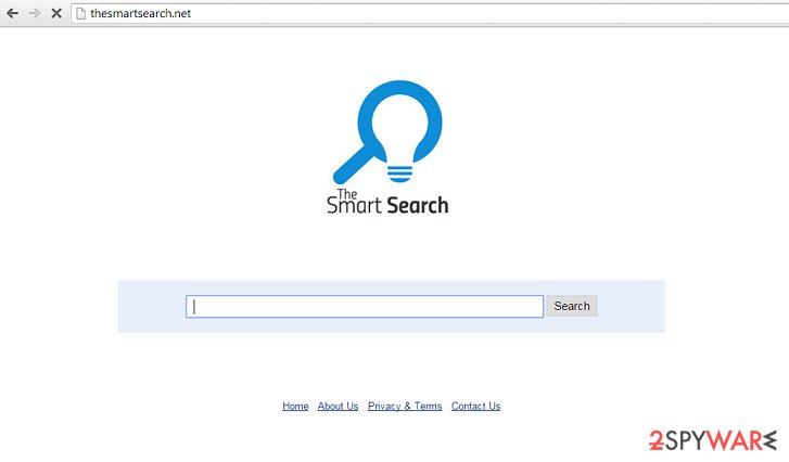 Image of the TheSmartSearch.net browser hijacker