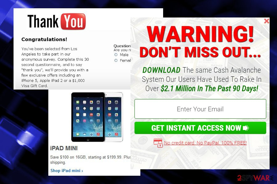 Thesterminator.com ads showed by security expert