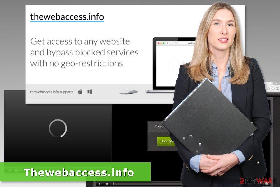 Image of Thewebaccess.info adware