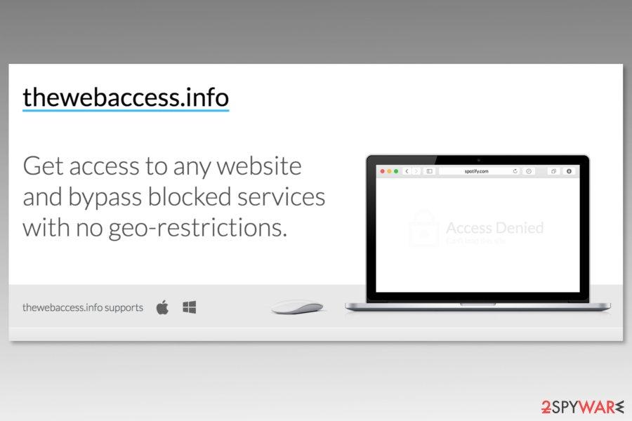 Screenshot of Thewebaccess.info website