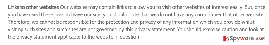 The image showing Privacy Policy of Footybase