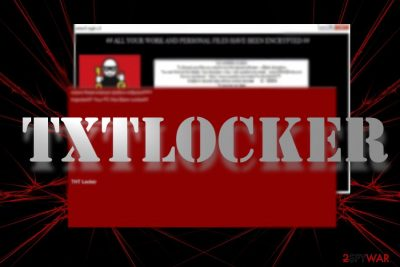 The image displaying THTLocker ransom note