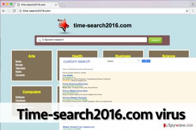 Image of the suspicious Time-search2016.com search engine