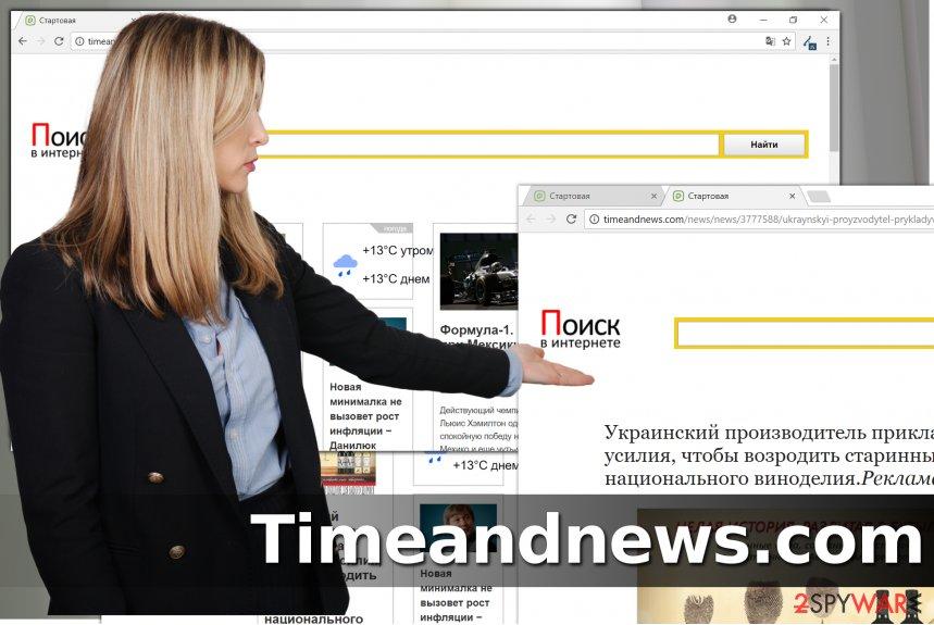 Timeandnews.com hijack