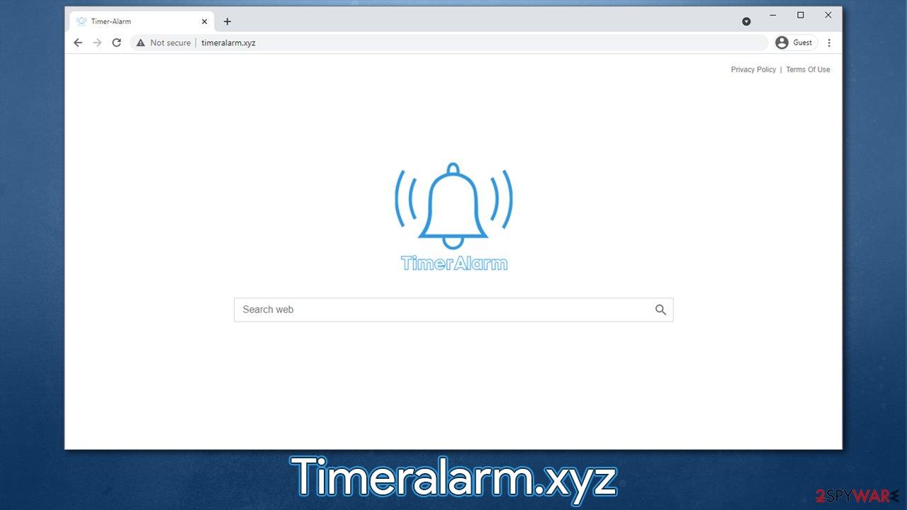 Timeralarm.xyz browser hijacker