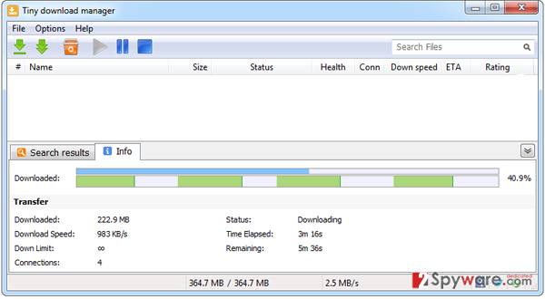 Tiny download manager snapshot