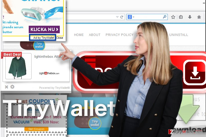 TinyWallet adware image