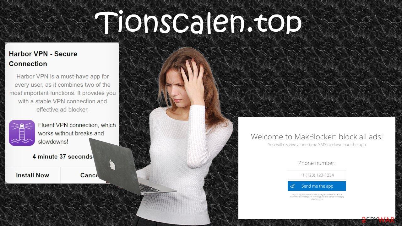 Tionscalen.top tech support scam