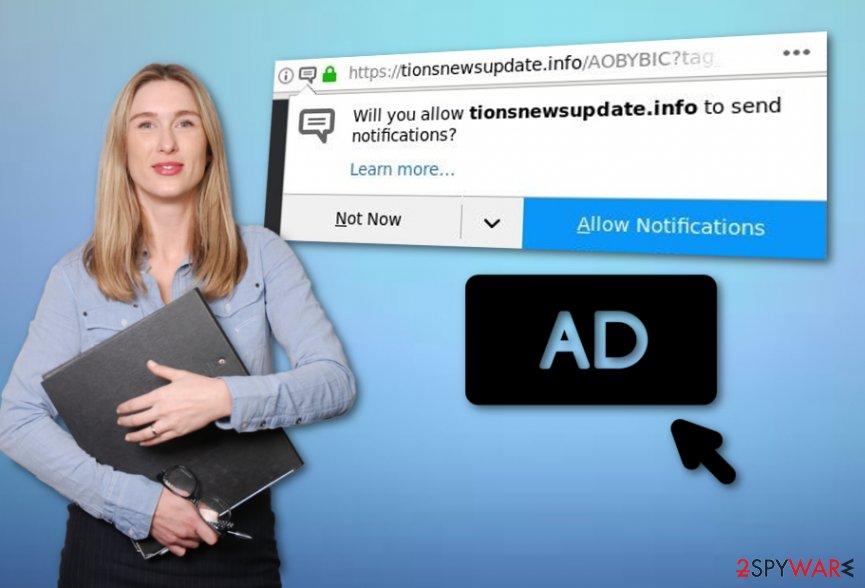 Tionsnewsupdate.info ads