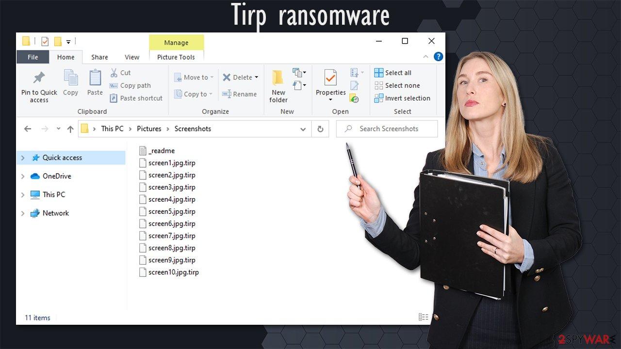 Tirp ransomware virus