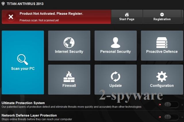 Titan Antivirus 2013 snapshot