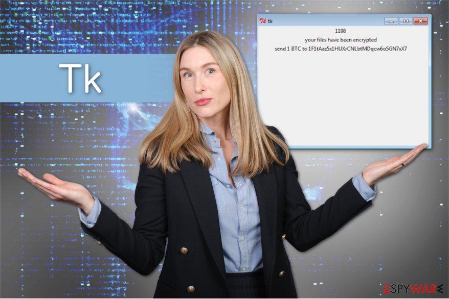 The illustration of Tk ransomware