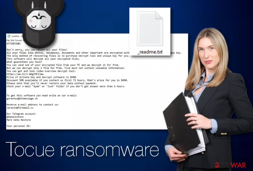 Tocue ransomware