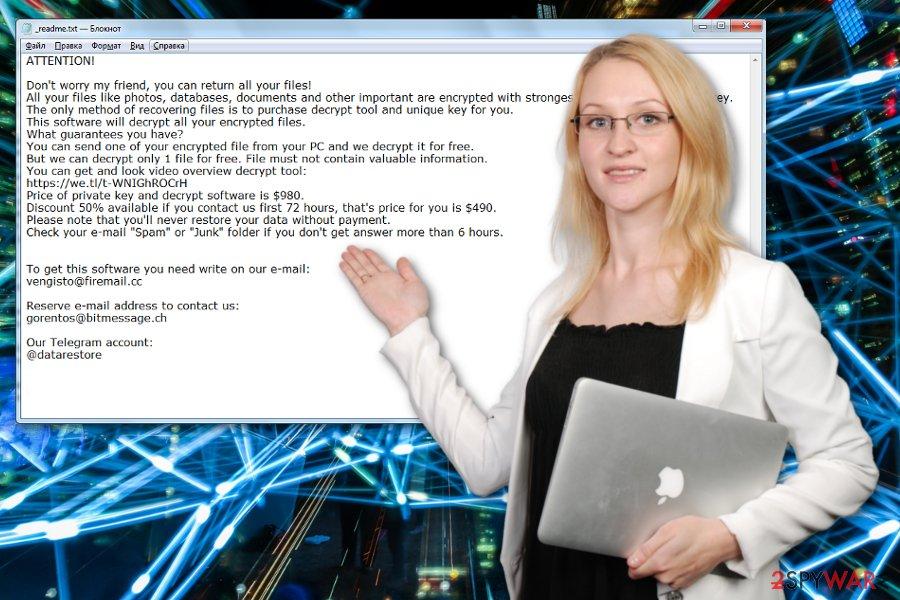 Todarius ransomware virus