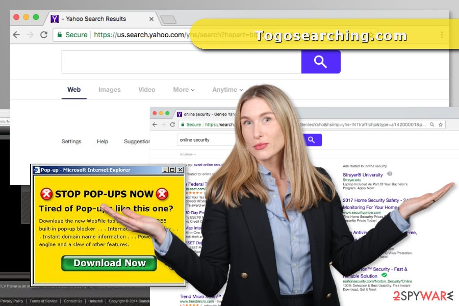 The picture of Togosearching.com redirect virus
