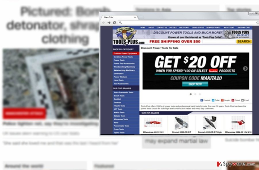 The picture illustrating Ads by Tools Plus