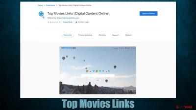 Top Movies Links browser hijacker