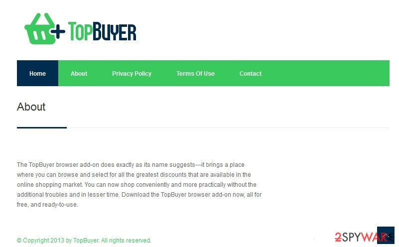 TopBuyer virus snapshot
