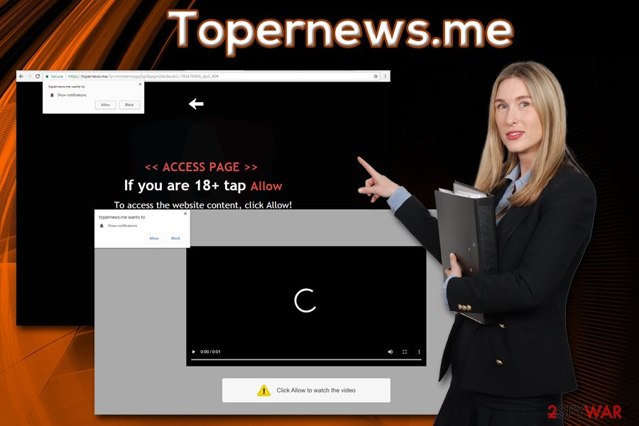 Topernews.me redirects