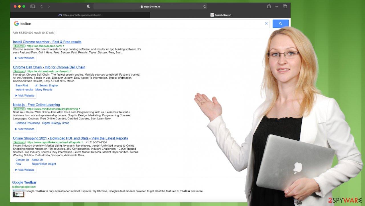 TopGameSearch browser hijacker