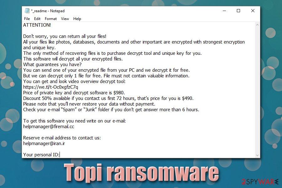 Topi ransomware