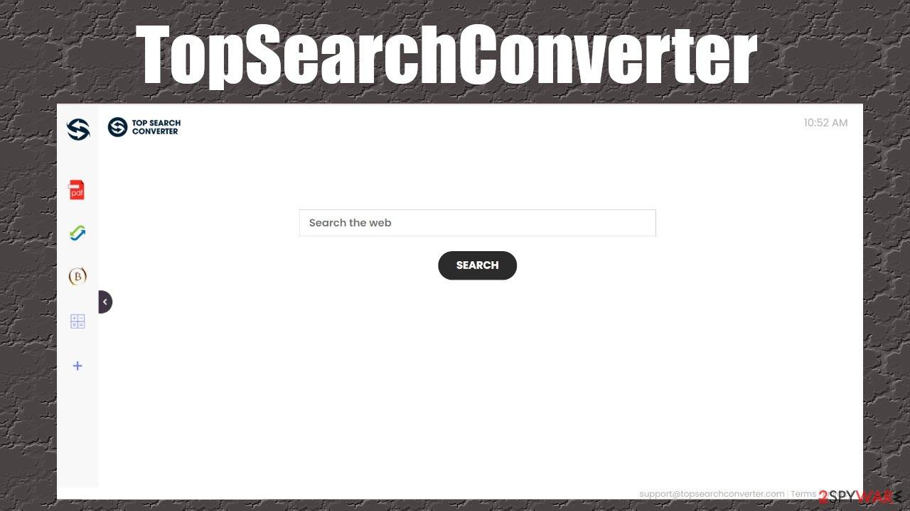 TopSearchConverter browser hijacker